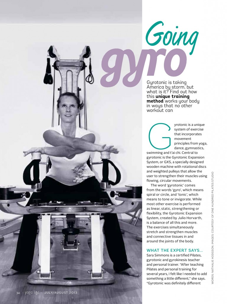 Gyrotonic at The Hundred Pilates Studio. Yogalife Middle East Try & Test. (First Page)