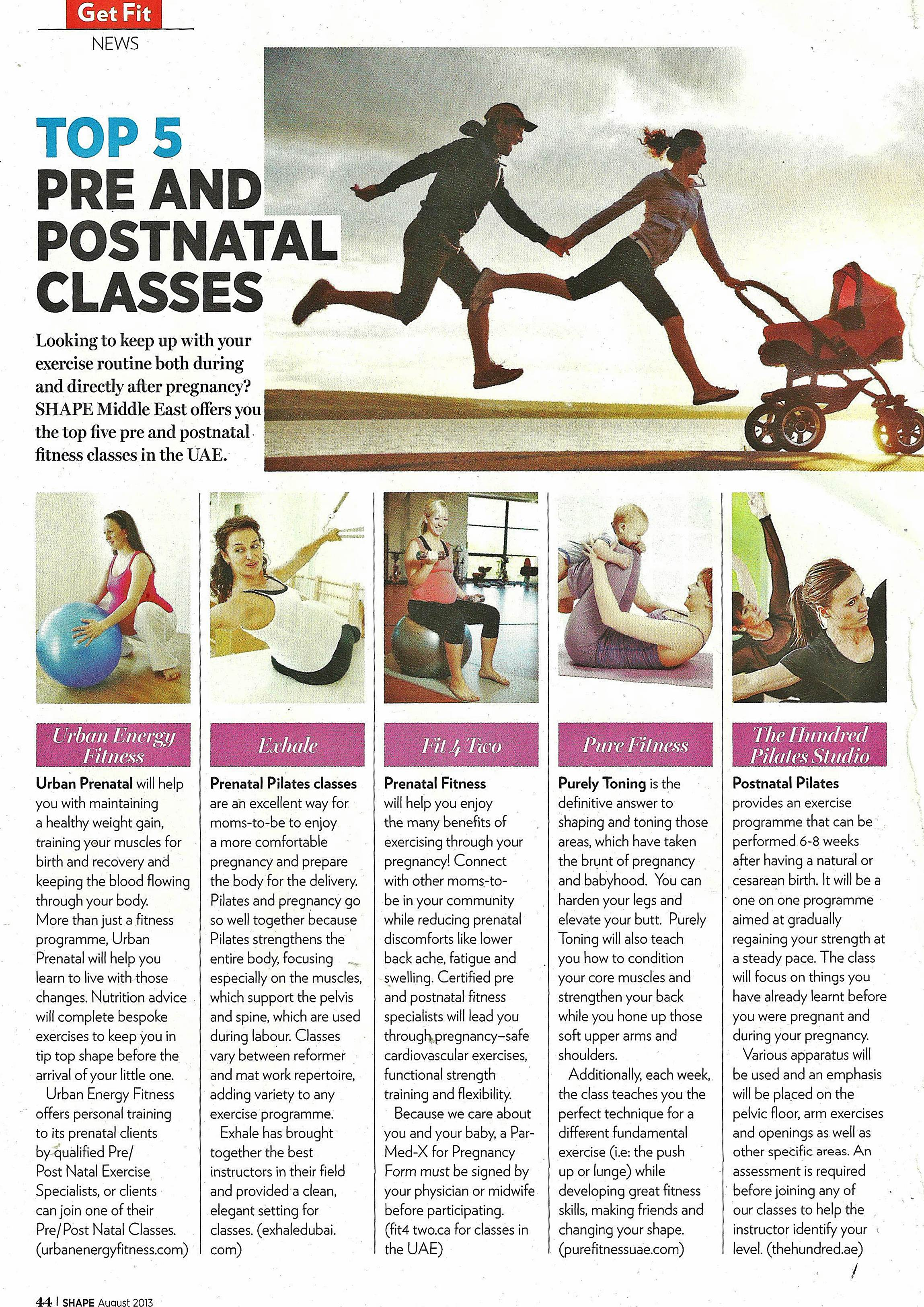 Top 5 Pre and PostNatal Classes by Time Out Dubai