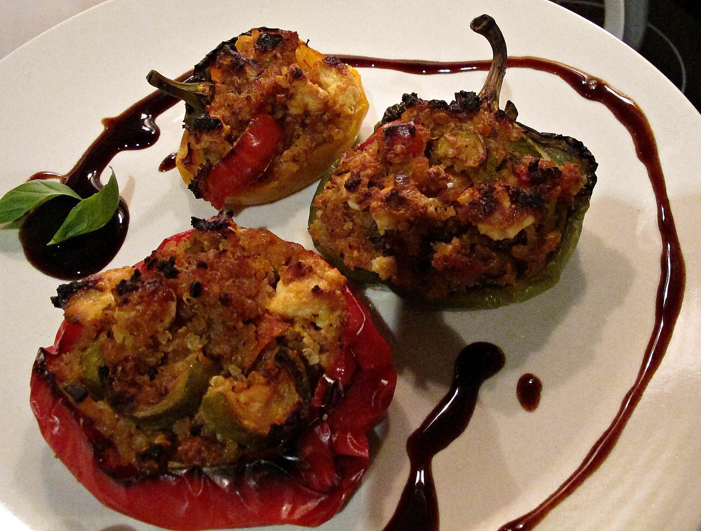 Roasted Peppers stuffed with Quinoa and Feta Cheese | www.thehundred.ae